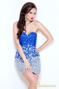 Коктейльное платье 96144. Цвет стальной. Вид 2