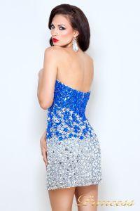 Коктейльное платье 96144. Цвет стальной. Вид 3