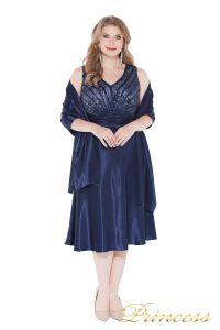 Вечернее платье 9810 blue . Цвет электрик . Вид 2