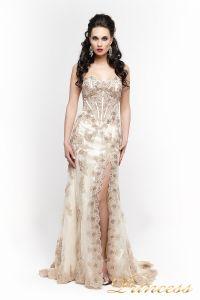 Вечернее платье 98362. Цвет шампань. Вид 1