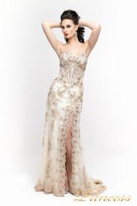 Вечернее платье 98362. Цвет шампань. Вид 2