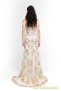 Вечернее платье 98362. Цвет шампань. Вид 3