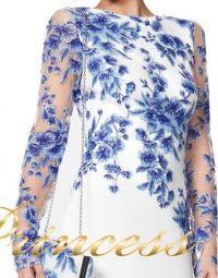 Вечернее платье ATH16206LXY white. Цвет цветочное. Вид 3