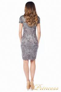 Вечернее платье Tadashi Shoji AUL16575M DARKPEARL. Цвет стальной. Вид 5