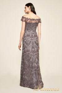 Вечернее платье AUL 17021l darkp earl crop. Цвет стальной. Вид 2
