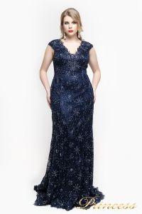 Вечернее платье 12026. Цвет синий. Вид 4
