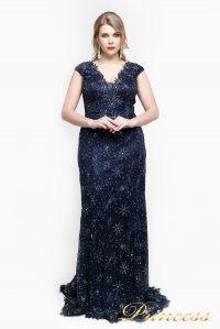 Вечернее платье 12026. Цвет синий. Вид 5