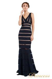 Вечернее платье 16003 navy. Цвет синий. Вид 4