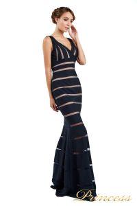 Вечернее платье 16003 navy. Цвет синий. Вид 5