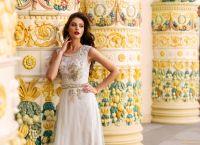 Вечернее платье NF-8085. Цвет бежевый. Вид 2