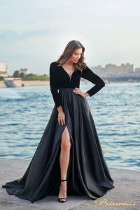 Вечернее платье NF-19058-black. Цвет чёрный. Вид 2