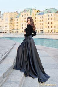 Вечернее платье NF-19058-black. Цвет чёрный. Вид 3