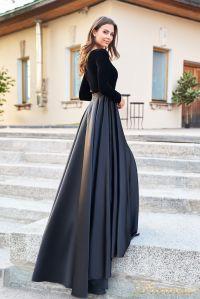 Вечернее платье NF-19058-black. Цвет чёрный. Вид 4