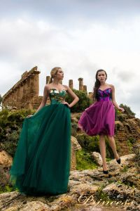 Вечернее платье 9903. Цвет зеленый. Вид 2