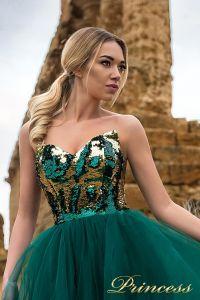 Вечернее платье 9903. Цвет зеленый. Вид 3