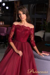 Вечернее платье 19035. Цвет красный. Вид 3