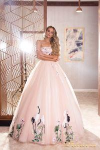 Вечернее платье 19040. Цвет розовый. Вид 1