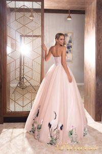 Вечернее платье 19040. Цвет розовый. Вид 2