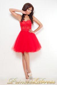 Вечернее платье 1044. Цвет красный. Вид 5