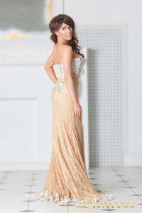 Вечернее платье 9008E. Цвет пудра. Вид 5
