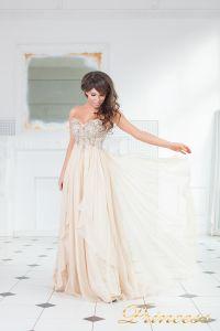Вечернее платье 12013N. Цвет персиковый. Вид 3