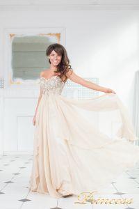 Вечернее платье 12013N. Цвет персиковый. Вид 2