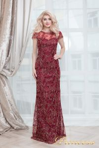 Вечернее платье 1628 wine gold. Цвет красный. Вид 5
