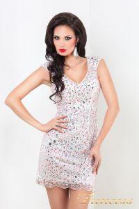 Коктейльное платье 26. Цвет розовый. Вид 1