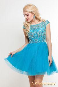 Платье на выпускной 24B. Цвет голубой. Вид 2