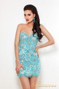 Вечернее платье PY9525. Цвет серебро. Вид 3