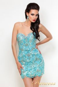 Вечернее платье PY9525. Цвет серебро. Вид 4
