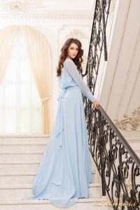 Вечернее платье 19050-B. Цвет голубой. Вид 3
