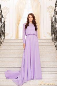 Вечернее платье 19050-L. Цвет лавандовый . Вид 1