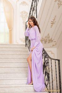 Вечернее платье 19050-L. Цвет лавандовый . Вид 2