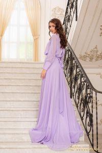 Вечернее платье 19050-L. Цвет лавандовый . Вид 3