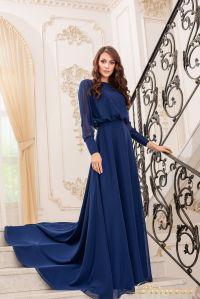 Вечернее платье 19050-N. Цвет navy. Вид 1