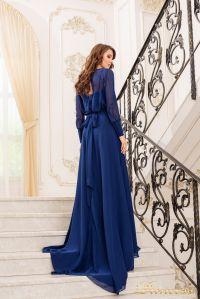 Вечернее платье 19050-N. Цвет navy. Вид 3