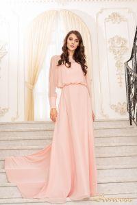 Вечернее платье 19050-P. Цвет пастель. Вид 1
