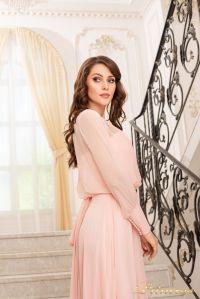 Вечернее платье 19050-P. Цвет пастель. Вид 2
