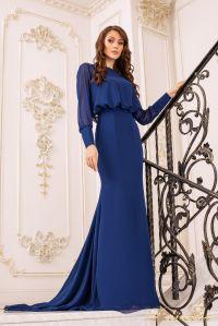 Вечернее платье 19050-NT. Цвет navy. Вид 1