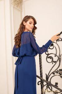 Вечернее платье 19050-NT. Цвет navy. Вид 2