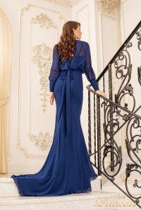 Вечернее платье 19050-NT. Цвет navy. Вид 3
