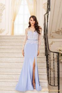 Вечернее платье 19056. Цвет голубой. Вид 2