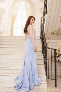 Вечернее платье 19056. Цвет голубой. Вид 4