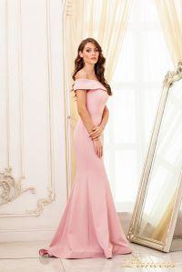 Вечернее платье 19052. Цвет персиковый. Вид 2