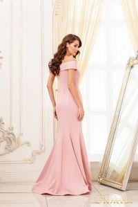 Вечернее платье 19052. Цвет персиковый. Вид 3