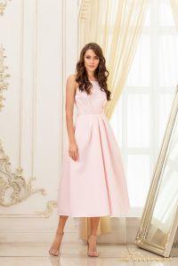 Коктейльное платье 19048-pink. Цвет пудра. Вид 1