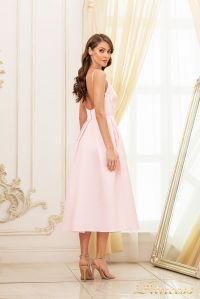 Коктейльное платье 19048-pink. Цвет пудра. Вид 2