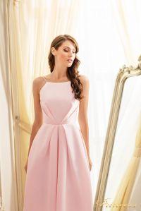 Коктейльное платье 19048-pink. Цвет пудра. Вид 3