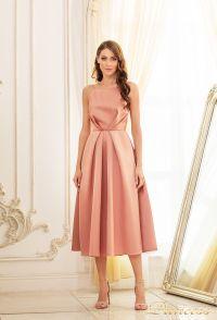 Вечернее платье 19048-cappuccino. Цвет бежевый. Вид 1